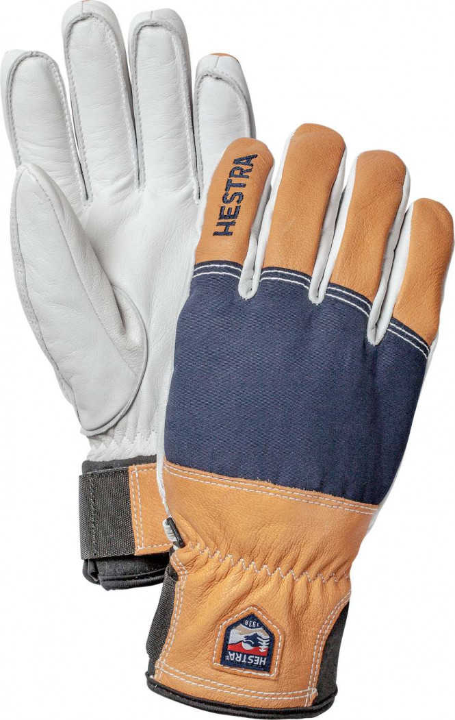 HESTRA Army Leather Abisko 5 finger, Marin