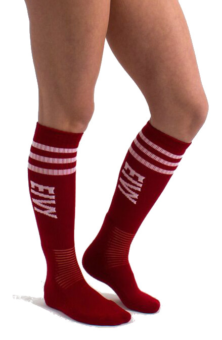 Eivy Cheerleader Alpine Socks, Red
