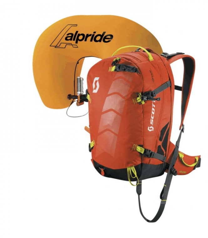 Scott Pack Air Free AP 22 Kit, tangerine orange/grey, SL