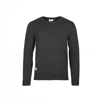 WeSC Anwar l/s knitted sweater, dark navy melange