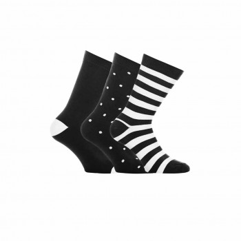 WESC Dott/Block socks, black