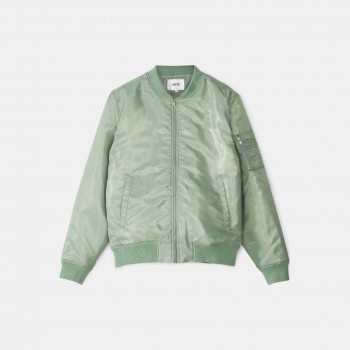 WeSC The Bomber padded jacket, Granite Green