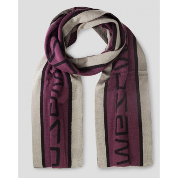 WeSC Paco Graphic scarf, red port