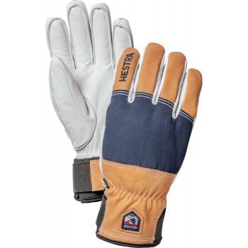 HESTRA Army Leather Abisko 5 finger, Marin