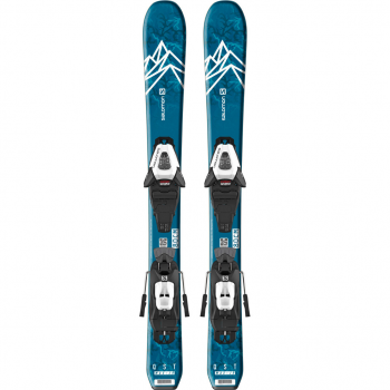 SALOMON L QST MAX Jr XS + C5 GW J75 Blue/White