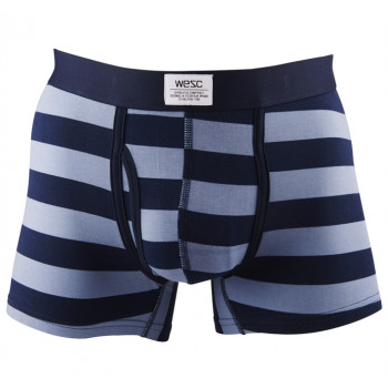 WESC Stripe Dot Boxer Bri underwear, insignia blue