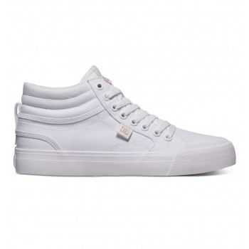 DC GIRLS EVAN HI TX J SHOE, WHITE