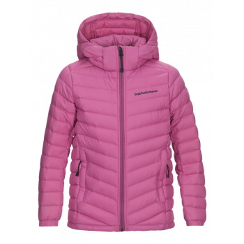 Peak Performance FROST DOWN HOOD JR, Vibrant Pink