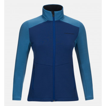 Peak Performance W HELO M ZIP, Blue Organic