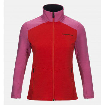Peak Performance W HELO M ZIP, Vibrant Pink