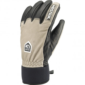 HESTRA Army Leather Wool Terry 5 finger, Jord/Svart