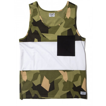 Colour Wear Pouch Tank Top, Asymmetric Olive