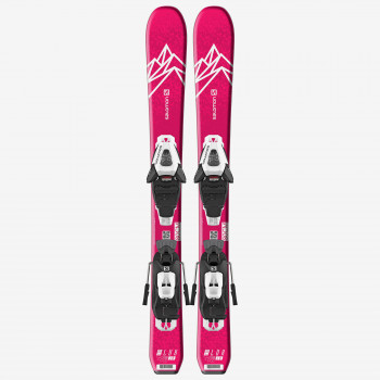 SALOMON L QST LUX Jr XS+ C5 GW J75 Pink/White