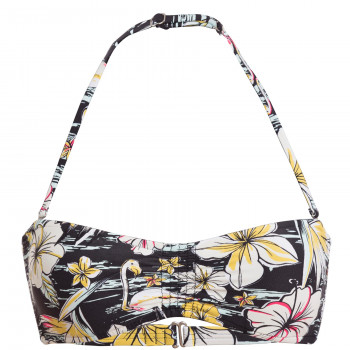 Billabong BANDEAU TROPICAL, BLACK FLORAL