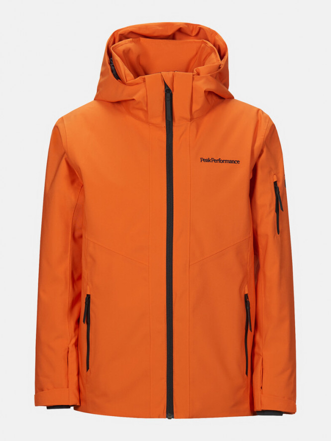 Peak Performance Jr Maroon Jacket Orange Altitude